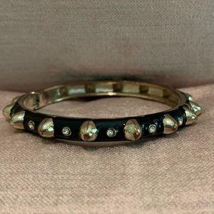 Sequin Black Enamel Bracelet- Narrow Width